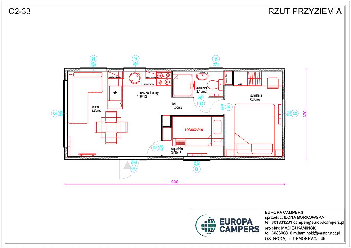 Mobilny dom holenderski C2-33