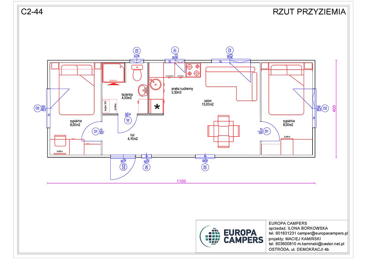 2 Mobilhaus C2-44