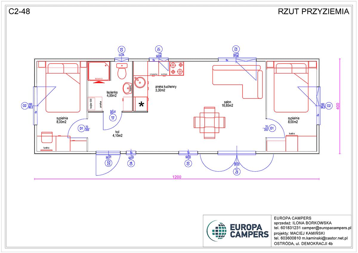 Mobilny dom holenderski C2-48